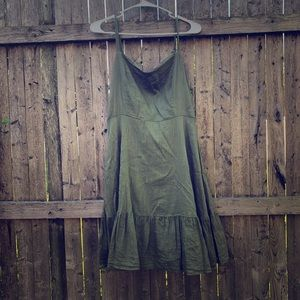Old Navy Olive Green Ruffle Dress
